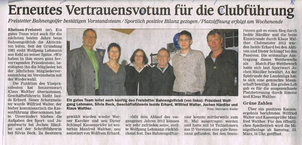 GV März 2013 Zeitungsbericht 1